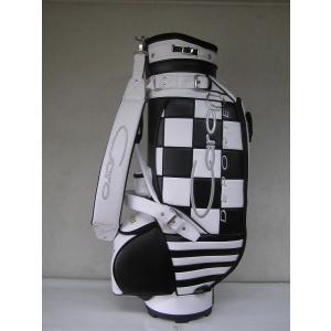 CARO(キャロ)キャディバッグ ニュースタッフ ゴールデン チェッカー白×黒定価138000円。|harada-golf
