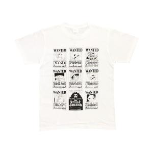 ONEPIECE(ワンピース) Tシャツ 手配書 ホワイト Lサイズ|harajuku-kiddyland