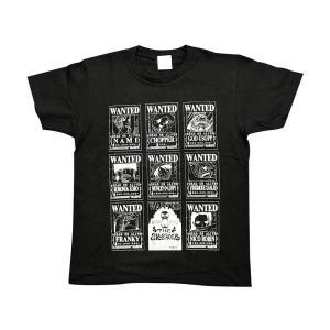 ONEPIECE(ワンピース) Tシャツ 手配書 ブラック Lサイズ|harajuku-kiddyland