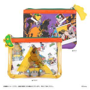 Disney(ディズニー) キデイランドオリジナルデザイン 『グーフィー&マックス』 クリアポーチ harajuku-kiddyland