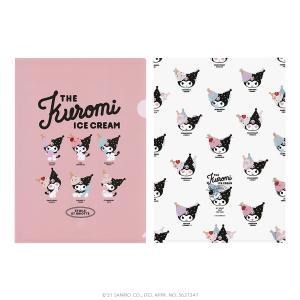 ETOILE ET GRIOTTE×Kuromi THE Kuromi ICE CREAME クリアファイル2枚セット SANRIO サンリオ クロミ|harajuku-kiddyland