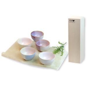 本体価格 4,500+消費税 まめ碗:約径8.4×H5.0cm×5 Shikisaiロゴマーク付木箱...