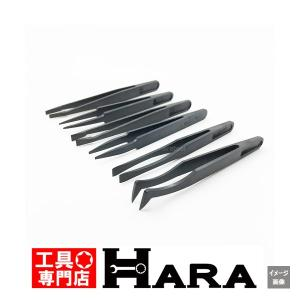 在庫有 メール便 送料無料 HKC 錆びない、磁気を帯びない、プラスチック製 ピンセット 6本組|haratool