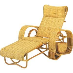 籐家具 ラタン 椅子 チェアー 折りたたみ椅子 リラックスチェア パーソナルチェア アームチェア 寝いす 寝イス 籐三つ折リクライニング寝椅子 a107|harda-kagu