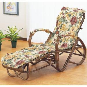 籐家具 ラタン 椅子 チェアー リクライニングチェア 折りたたみ椅子 リラックスチェア アームチェア 籐三つ折リクライニング寝椅子 カバー付き a111b|harda-kagu