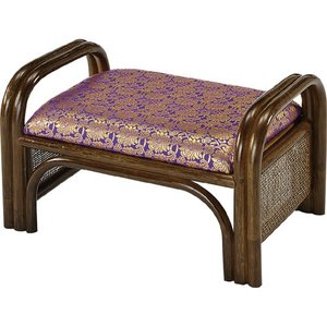 金襴座椅子 正座椅子 籐正座椅子 正座器 籐正座器 仏前用 ご仏前用 ご仏前用座椅子 仏前 仏間 法事 金襴 金襴張 籐 ラタン 座椅子 籐座椅子 紫色 紫 ロータイプ|harda-kagu