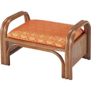 金襴座椅子 正座椅子 籐正座椅子 正座器 籐正座器 仏前用 ご仏前用 ご仏前用座椅子 仏前 仏間 法事 金襴 金襴張 籐 ラタン 座椅子 籐座椅子 朱色 朱 ロータイプ|harda-kagu