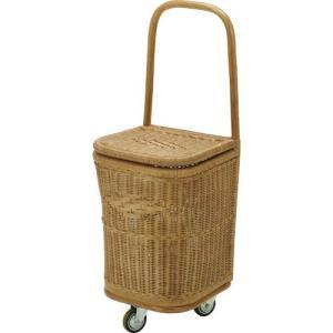 キャリーバッグ 買い物カゴ 買い物用キャリーバッグ ショッピングカート 籐家具 籐 ラタン家具 ラタン カート 買い物カート バッグ バスケット 手押し|harda-kagu
