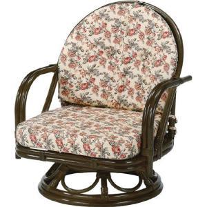 籐家具 ラタン 椅子 チェアー 座椅子 回転いす ラタンチェア アームチェア 肘掛け椅子 パーソナルチェア 一人掛け椅子 籐回転座椅子 ミドル s252b 幅55 奥行53 harda-kagu