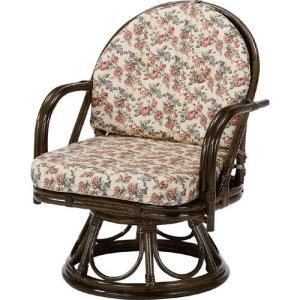 籐家具 ラタン 椅子 チェアー 回転いす パーソナルチェア 肘掛け椅子 アームチェア リラックスチェア 一人掛け 籐回転座椅子 ハイ s253b 幅55 奥行53 高さ72|harda-kagu
