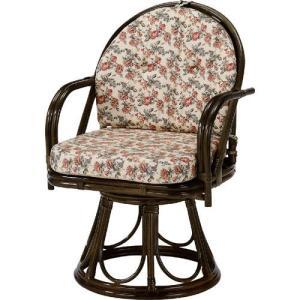 籐家具 ラタン 椅子 チェアー 座椅子 回転いす パーソナルチェア アームチェア 肘掛け椅子 一人掛け 籐回転座椅子 ハイ s254b 幅55 奥行53 高さ81|harda-kagu