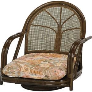 籐家具 ラタン 椅子 チェアー 座椅子 座イス 低座椅子 ローチェア 回転いす パーソナルチェア アームチェア 一人用 籐回転座椅子 ロー s301b 幅55 奥行51 harda-kagu