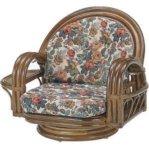 籐回転座椅子 ミドル 籐家具 藤 ラタン家具 椅子 イス いす チェア 籐の椅子 回転 回転式椅子 回転チェア アームチェア 幅76 奥行59 高さ58 座面高さ21cm 中 harda-kagu