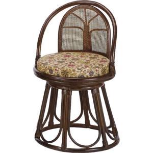 籐家具 ラタン 椅子 チェアー 座椅子 パーソナルチェア アームチェア 肘掛け椅子 回転いす 回転チェア 一人掛け 籐回転座椅子 ハイ s514b|harda-kagu