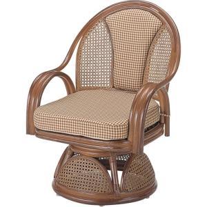 籐家具 ラタン 椅子 チェアー 座椅子 回転いす 回転チェア パーソナルチェア アームチェア 肘掛け椅子 一人掛け 籐回転座椅子 ハイ s533b 幅58 奥行56 高さ74|harda-kagu