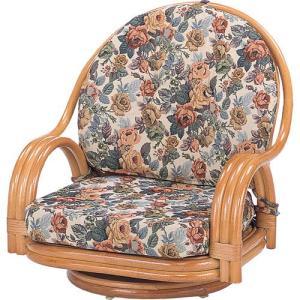 籐家具 ラタン 椅子 チェアー 座椅子 座イス ローチェア パーソナルチェア アームチェア 肘掛け椅子 一人掛け 回転いす 籐回転座椅子 ロー s581 幅58 奥行58|harda-kagu