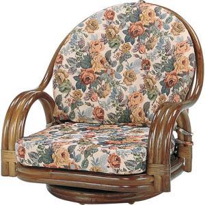 籐家具 ラタン 椅子 チェアー 座椅子 座イス ローチェア パーソナルチェア アームチェア 肘掛け椅子 一人掛け 回転いす 籐回転座椅子 ロー s581b 幅58 奥行58|harda-kagu