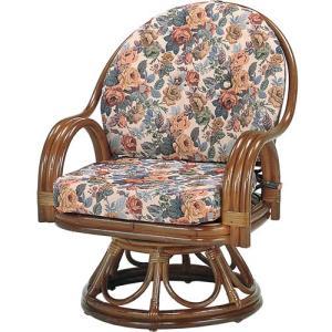 籐家具 ラタン 椅子 チェアー 座椅子 回転いす パーソナルチェア アームチェア 肘掛け椅子 ラタンチェア 一人用 籐回転座椅子 ハイ s583b 幅58 奥行58 高さ75|harda-kagu