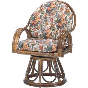 籐家具 ラタン 椅子 チェアー 座椅子 回転いす パーソナルチェア アームチェア 肘掛け椅子 回転チェア ラタンチェア 籐回転座椅子 ハイ s584b 幅58 奥行58|harda-kagu