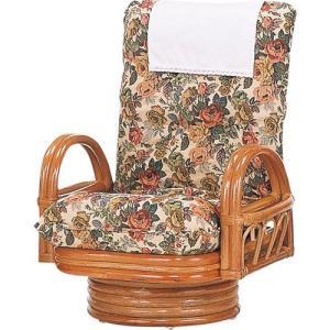 籐家具 ラタン 椅子 チェアー リクライニングチェア リラックスチェア 回転いす 籐リクライニング回転座椅子 ミドル s592 幅64 奥行60〜80 高さ67〜77|harda-kagu