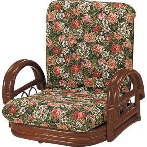 籐家具 ラタン 椅子 チェアー リクライニングチェア リラックスチェア 回転いす 籐リクライニング回転座椅子 ロー s604b 幅55 奥行50〜70 高さ46〜56|harda-kagu