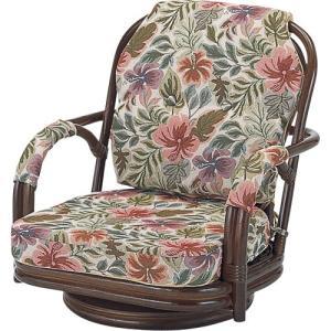 籐家具 ラタン 椅子 チェアー 座椅子 座イス ローチェア パーソナルチェア アームチェア リビングチェア 回転いす 籐回転座椅子 ロー s651b 幅55 奥行56|harda-kagu