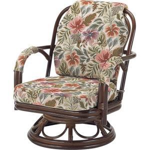 籐家具 ラタン 椅子 チェアー 座椅子 回転いす ラタンチェア パーソナルチェア アームチェア 肘掛け椅子 一人用 籐回転座椅子 ミドル s652b 幅55 奥行56|harda-kagu