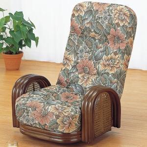 籐家具 ラタン 椅子 チェアー リクライニングチェア リラックスチェア 回転いす 籐リクライニング回転座椅子 ロー s677 幅60 奥行65〜95 高さ69〜79|harda-kagu