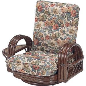 籐家具 ラタン 椅子 チェアー リクライニングチェア リラックスチェア 回転いす 籐リクライニング回転座椅子 ロー s697 幅76 奥行57〜80 高さ57〜67|harda-kagu