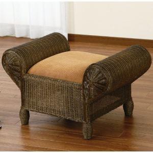 籐ソファスツール y124b 籐家具 籐 ラタン家具 ラタン 籐の椅子 椅子 チェア チェアー スツール 木製スツー|harda-kagu