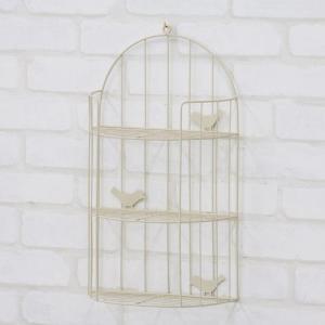 ウォールシェルフ 壁掛けラック ウォールラック 完成品 かわいい 壁掛け ラック 小鳥 アイボリー 壁掛け棚 飾り棚 おしゃれ 小物入れ 小物置き ディスプレイ|harda-kagu