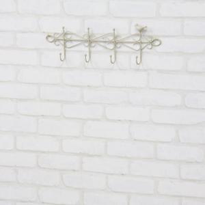 ハンガーフック 完成品 壁面収納 ウォールフック フック付 壁掛けハンガー 小鳥 アイボリー 壁掛けフック おしゃれ かわいい キッチン キッチン収納 小物整理|harda-kagu
