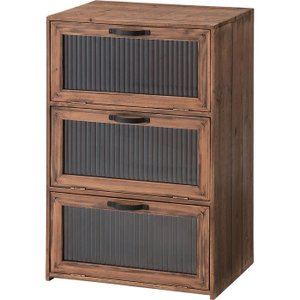 キャビネット サイドボード 戸棚 本棚 食器棚 木製 フラップ扉 キッチン収納 完成品 トレノ 幅40cm 高さ60cm 収納棚 フラップ レトロ harda-kagu