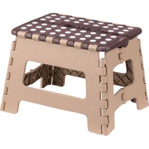 スツール 完成品 折りたたみ 脚立 クラフター M ブラウン チェア チェアー いす 椅子 イス 腰掛け 折り畳みスツール 折りたたみスツール 踏み台|harda-kagu