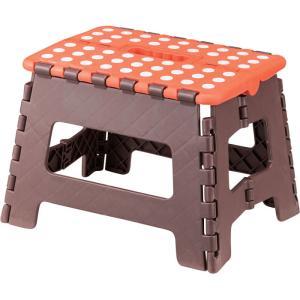スツール 完成品 折りたたみ 脚立 クラフター M オレンジ チェア チェアー いす 椅子 イス 腰掛け 折り畳みスツール 折りたたみスツール 踏み台|harda-kagu