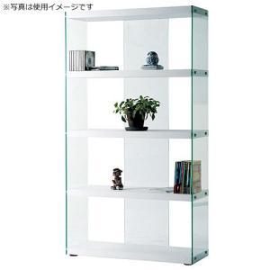 オープンラック ガラス 収納 インテリア ハブ ホワイト 幅83cm高さ150cm ラック シェルフ ディスプレイラック コレクションラック フィギュアラック|harda-kagu