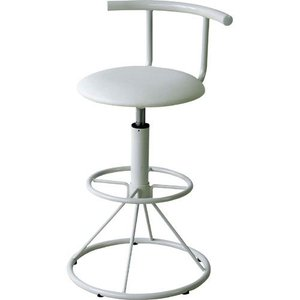 完成品 カウンターチェア 回転式 昇降 ソフトレザー 背もたれ付き キリク ホワイト 背もたれ いす イス 椅子 チェア チェアー カウンターチェアー 合皮 合成皮革|harda-kagu