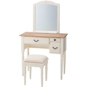 ドレッサー スツール セット 姫系 かわいい 姫家具風カントリー調ドレッサースツールセット ビッキー 化粧鏡 化粧台 鏡台 鏡 ミラー 化粧 化粧机 つくえ 机 いす|harda-kagu