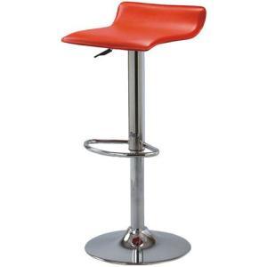 カウンターチェア スツール 回転 昇降 2脚セット レッド 2個セット 合皮 合成皮革 合皮レザー カウンターチェアー カウンタースツール いす イス 椅子|harda-kagu