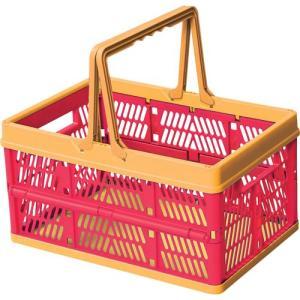 小物入れ かご バスケット 収納ボックス スタッキング 籠 折りたたみ スタッキングボックス ピンク 積み重ね おもちゃボックス おもちゃ入れ 収納 かわいい|harda-kagu