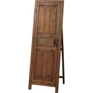 完成品 アンティーク 木製 スタンドミラー 北欧 おしゃれ ドア風扉付き ソーレ ブラウン 鏡 ミラー 壁掛け 壁掛鏡 壁掛け鏡 全身鏡 全身ミラー 姿見鏡|harda-kagu
