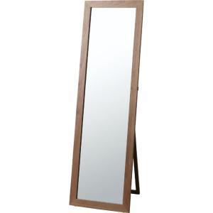 スタンドミラー 姿見 ミラー 鏡 全身 角型 トリコ ブラウン 木製 ウッド 木製フレーム 天然木 スタンド スタンドタイプ 姿見鏡 全身鏡 全身ミラー 北欧|harda-kagu
