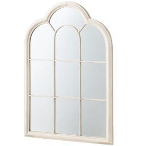鏡 壁掛け 北欧 完成品 おしゃれ アンティーク 窓風デザインウォールミラー エルフ ウォールミラー 窓 ミラー 身だしなみ 姫 姫系 アンティーク風家具 掛け鏡 化|harda-kagu