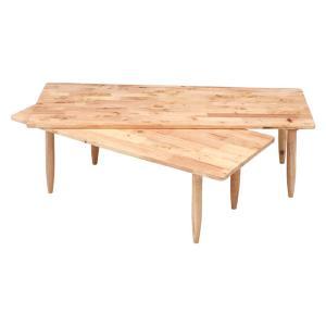 センターテーブル テーブル リビングテーブル ローテーブル 木製 L字 コーナー 伸縮テーブル 伸縮式 ツインテーブル Natural Signature スライドテーブル|harda-kagu