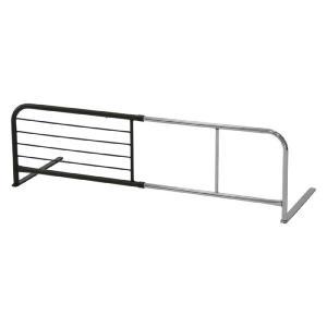 ベッドガード 伸縮ベッドガード 伸縮 幅調節 ブラウン ベッド用 ベッドの柵 柵 ガード ズレ落ち防止 転落防止 サイドガード|harda-kagu