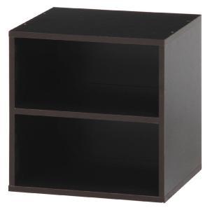 キューブボックス カラーボックス キューブ ラック 棚 ボックス ボックスラック 棚付 ブラウン おしゃれ パズルラック 収納棚 シェルフ 本棚|harda-kagu