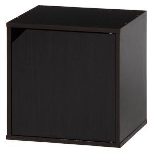 キューブボックス カラーボックス キューブ ラック 棚 扉付 ブラウン おしゃれ パズルラック 収納棚 シェルフ 本棚 戸棚 扉 キャビネット|harda-kagu
