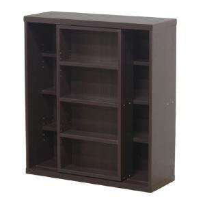 86043 本棚 書棚 スライド本棚 スライド書棚 スライド 幅80cm コミック本棚 書庫 書斎 本箱 シェルフ ラック レガール 高さ90cm|harda-kagu