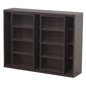86046 本棚 書棚 スライド本棚 スライド書棚 スライド ダブルスライド スライド式本棚 幅119 スライド式 書庫 レガール 幅119cm 高さ90cm 120|harda-kagu