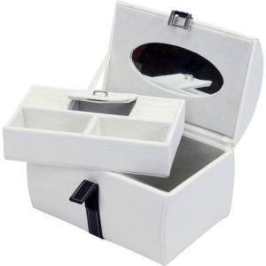 アクセサリーボックス ホワイト 91024 幅212 奥行154 高さ140mm 雑貨 コスメ収納 アクセサリー収納|harda-kagu